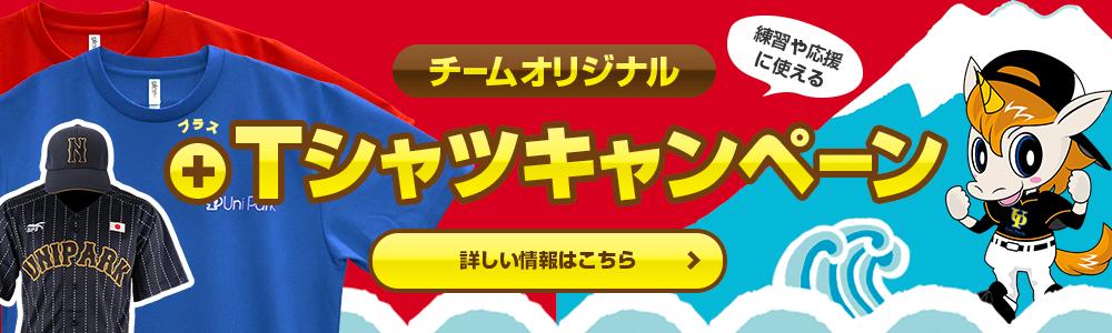 チームオリジナル|プラスTシャツキャンペーン