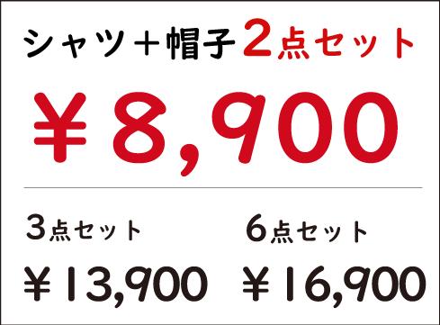 2019年2月末まで|キャンペーン価格|2点セット10,900円→8,900円|3点セット15,200円→12,800円|6点セット18,200円→15,700円